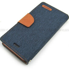 Denim Luxury Flip Cover Wallet Leather Case versed For iPhone 7 / Galaxy S8 / LG