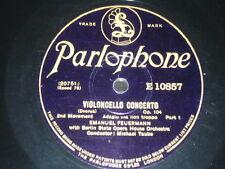 VIOLONCELLO 78 rpm RECORD Parlophone EMANUEL FEUERMANN Concerto DVORAK