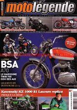 MOTO LEGENDE 227 SUZUKI GS 850 G YAMAHA XS 850 BSA 750 A70 KAWASAKI KZ 1000 S1