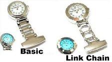 Mens Ladies Metal Gold Silver Backlight Light Doctor Nurse Nurses Fob Watch toc