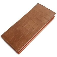 Man Long Wallet Man Bifold Wallet Card Wallet Man Wallet Cow Leather 1162ATbrown