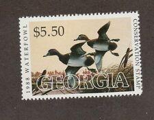 GA4 - Georgia  State Duck Stamp. Single.  MNH. OG.