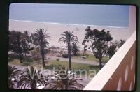 Aug 1963  amateur 35mm  photo slide beach view  Santa Monica Los Angeles CA