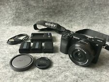 Sony Alpha A6000 24.3 MP Digital Camera Black Kit with 16.5 mm