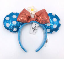Mickey Mouse Polka Dot Sequins Minnie Ears Sun Flower Bow Disney Parks Headband