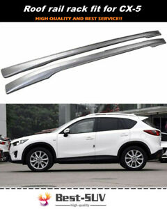 2Pcs Fit for 2012-2016 Mazda CX-5 CX5 Aluminum Roof Rail Rack Cross Bar Crossbar