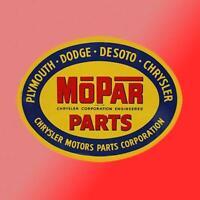 Mopar Parts Division Vinyl Decal Sticker Car Dodge Charger Challenger Vintage