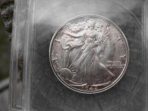 Silver Walking Liberty Half Dollar unciruclated 1942 MS 62 ANACS