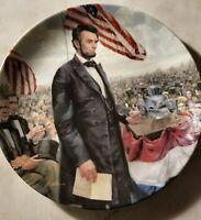 Vtg. Abraham Lincoln Plate Gettysburg Address Edwin Knowles China