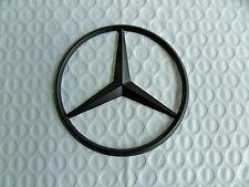 New for Mercedes Benz Flat Black Star Trunk Emblem Badge 90mm - Free US Shipping