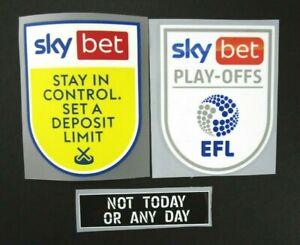 2020 2021 EFL SKY BET LEAGUE 1 PLAY OFF GAMBLE AWARE AGAINST RACISM PATCHES