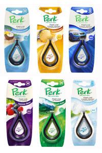 Pack of 6 Perk Fresh Link Air Freshener Car Office Room Van Scent Clip Vent Hang