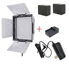 Yongnuo YN-600 5500k LED Video Light ,AC Adapter, + 2 Batteries + Charger