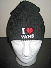 Vans Shoes I Heart Vans Unisex Beanie Black Red White OSFA NWT Ships Free
