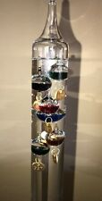 "Galileo Thermometer, 24"" With 11 Multicolored Spheres, 62-82 Degrees F"