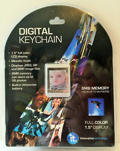 Digital Picture Photo Keychain, Innovative Technology, 1.5 Inch Color Display