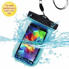 CELL PHONE POUCH WATERPROOF BAG TOUCHSCREEN CASE COVER WITH ARMBAND - BABY BLUE