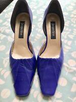 Jaques Vert Cobalt Blue Mid Heigh Heels Size 5 Wedding Christening Cruise