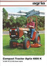 Equipment Brochure - Agria - 4800 K - Compact Tractor - Farm - c1979 (E3348)