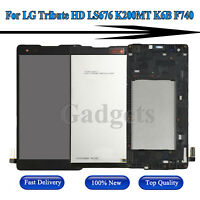 For LG Tribute HD LS676 K200MT K6B F740 LCD Display Touch Screen Digitizer Frame