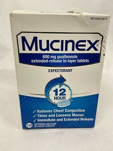 Mucinex Guaifenesin Regular Strength 100 Tablets EXP 2023 (LOOK AT AD PICS)