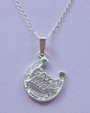 Good Luck Horseshoe Necklace Pendant & Chain STERLING SILVER 925