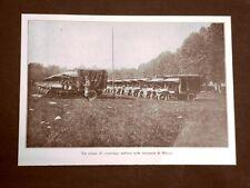 WW1 Prima guerra mondiale 1914-1918 Camion militari presso Milano nel 1915