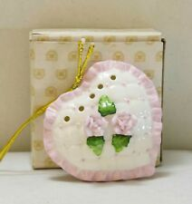 Valentine Heart W/ Scent holder Ceramic - Heart Shape Pomander