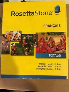 Rosetta Stone French (Francais) Levels 1-4 Version 4
