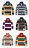 Brand New Kids Boys Long Sleeve Polo T-Shirt  Size 2 -14 Years (6 x Designs)