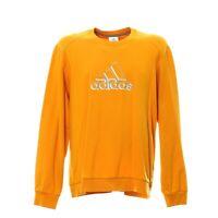 Vintage Adidas Sweatshirt Größe L Retro Pullover Orange Langarm Gestickt