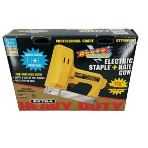 VINTAGE ARROW ETF50PBN USA Made ELECTRIC PROFESSIONAL  ELECTRIC STAPLE/NAIL GUN