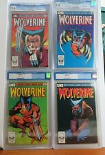 WOLVERINE 1+2+3+4 CGC 9.6 + 9.4 First Limited Series Logan X-Men Marvel 1982