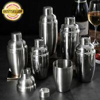 anndora Cocktail Set 7 Teile Barzubehör Mixer Shaker Aluminium Koffer Silber
