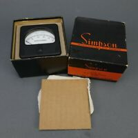 Simpson Electric Model 27 Panel Meter Gauge D.C. Microamperes 0-50