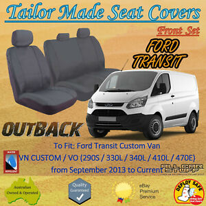 Tailor Made Canvas Seat Covers for Ford Transit Van VN Custom & VO: 09/2013 - ON
