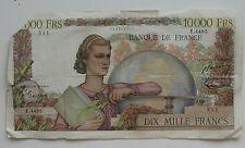 FRANCE , 10000 FRANCS DE 1958 . MUY CIRCULADO