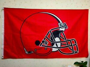 Cleveland Browns Helmet Flag 3X5 FT Banner Polyester FAST SHIPPING!