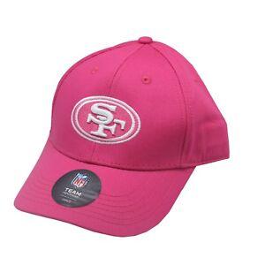San Francisco 49ers NFL Toddler & Kids Girls OSFM Adjustable Pink Hat Cap New