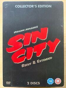 Sin City DVD Steelbook Recut & Extended w/ Robert Rodriguez and Frank Miller