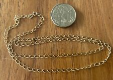 9ct Yellow Gold Necklace Chain 50cm Long