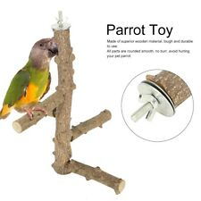 Parrot Pet Wood Hanging Stand Rack Toy Branch Perches For Bird Cage Parrot Pet