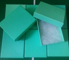 10 * Green jewellery / christmas gift box packing box 925  silver jewellery ring