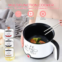 600W Multi-Function Electric Boiler Skillet Mini Cooker Portable Food Steamer