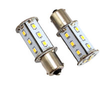 GoldenGadgets BA15S 1141 1156 RV Bulb Replacement 18 LED Warm White 2Pack