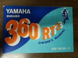 Used Yamaha Enduro 360 RT3 Owners Manual 308-28199-11  LIT-11623-08-01 OMB3