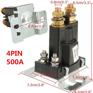 Universal 4 Pin 12V DC Dual Battery Isolator Relay Start On/Off Car Power Switch