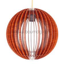 Bolas 40, Pendelleuchte dunklem Holz, Hängelampe,Holzleuchte, Modern, Neu Design
