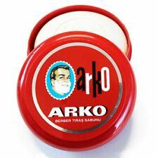 3 x ARKO SHAVING CREAM SOAP WITH BOWL/CASE 90 GRAMS TRADITIONAL TURKISH SHAVING