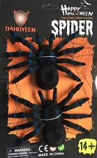 Happy Halloween 2 X Gaint Monster Spiders Black/Blue Party Decorations Fun Party